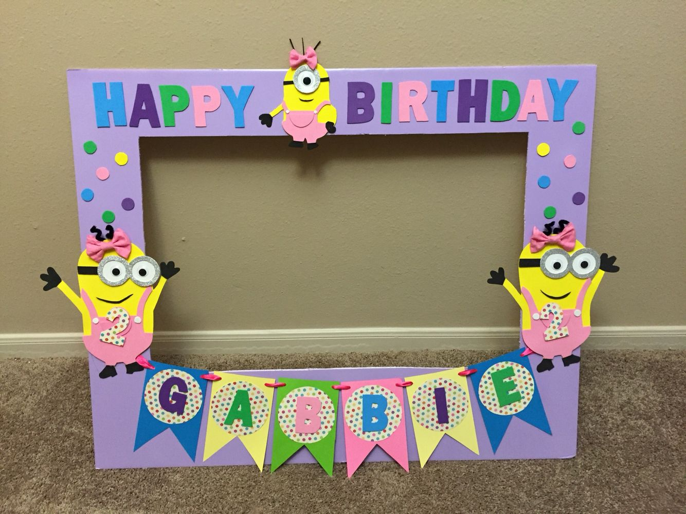 Minion picture frame for a girl minion picture frame for - Marcos de fotos originales ...
