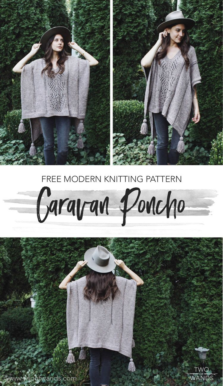 4a07579cd Caravan Poncho Pattern by Two of Wands