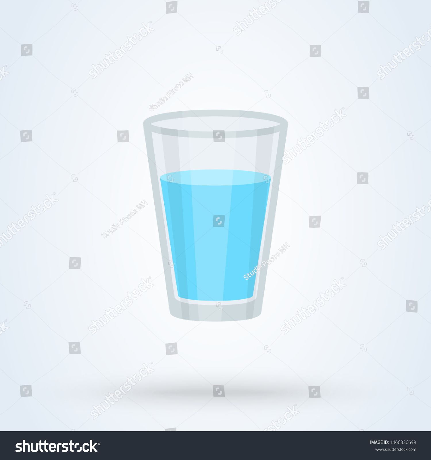 Glass Of Water Flat Design Vector Modern Icon Illustration Sponsored Sponsored Flat Design Glass Water Flat Design Presentation Design Glass Design