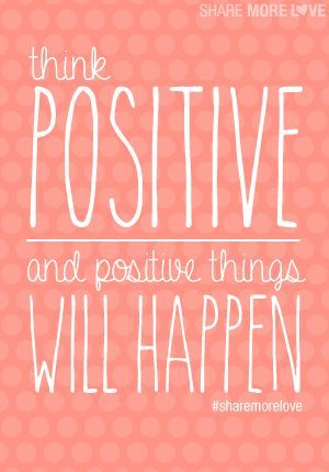 Positive thinking. It works!