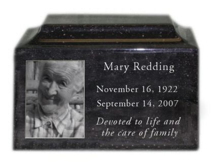 Engraved Photo Urn In Granite Photo Engraving Photo Urn Memorial Service