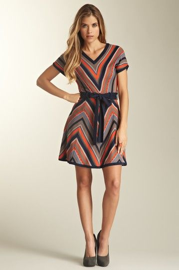 Jessica Simpson Short Sleeve Belted Sweater Dress by Dress Sensation on @HauteLook...a absolutely >3 this!!!