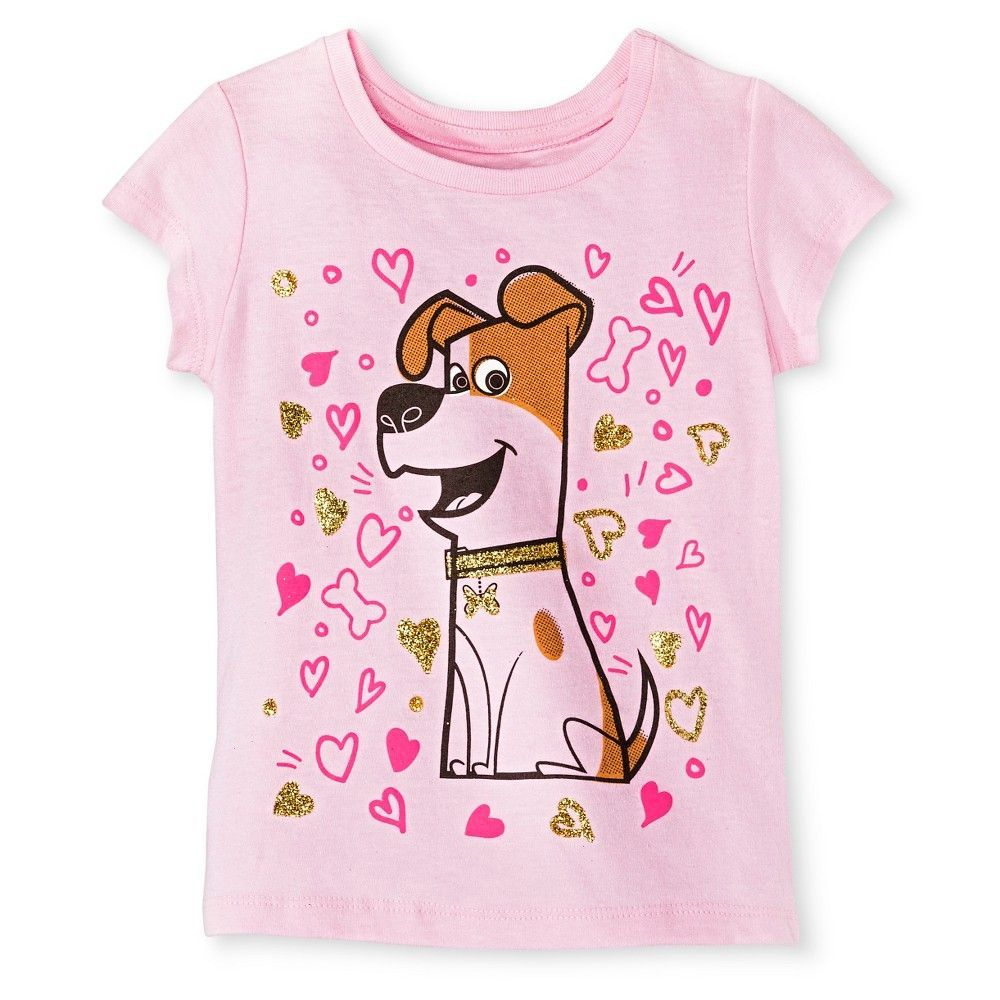 The Secret Life of Pets Toddler Girls' Max Tee 5T - Pretty Pink, Toddler Girl's