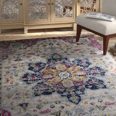 Bungalow Rose Pena Cream Purple Area Rug Rug Size Rectangle 1 10 X 2 11 In 2020 Purple Area Rugs Area Rugs Rugs