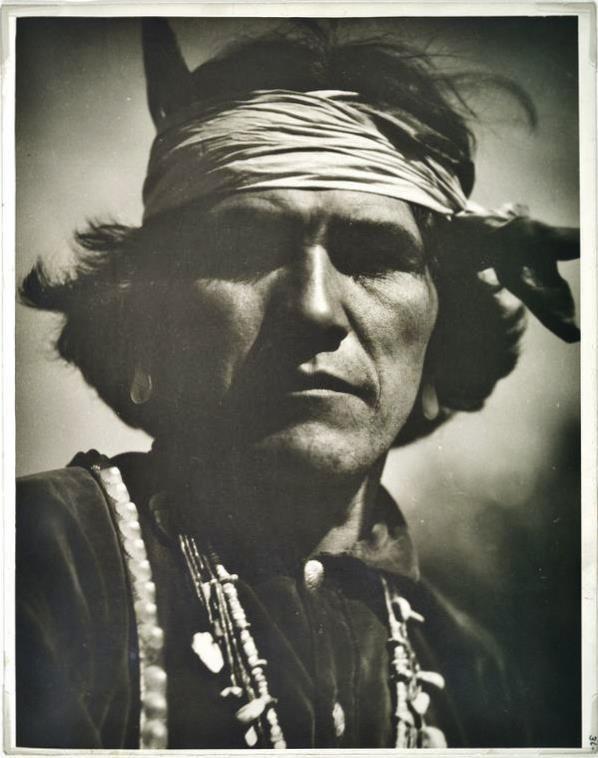 Navajo man near Gallup, New Mexico - 1926