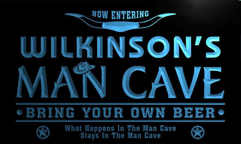pb1631-b Wilkinson's Man Cave Cowboys Bar Neon Light Sign