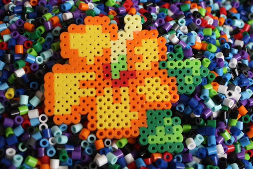 Perler Beads- Tropical Flower By ~Puppylover5 On