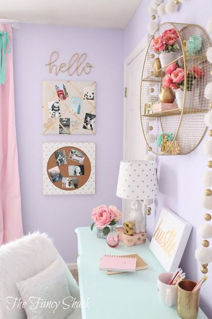 80+ Unicorn Room Ideas Bedrooms for Little Girls | cuarto mile ...