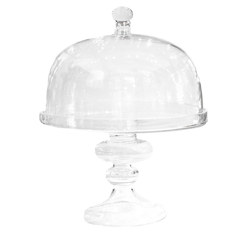 Glass dome pedestal cake stand pedestal cake stand