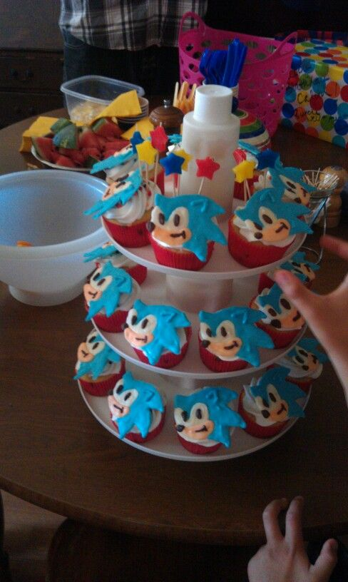 Sonic The Hedgehog Cupcakes Video Boy Birthday Party