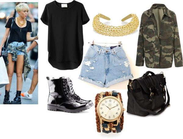 """""""Get the look: Miley Cyrus"""" by maisierh on Polyvore"""
