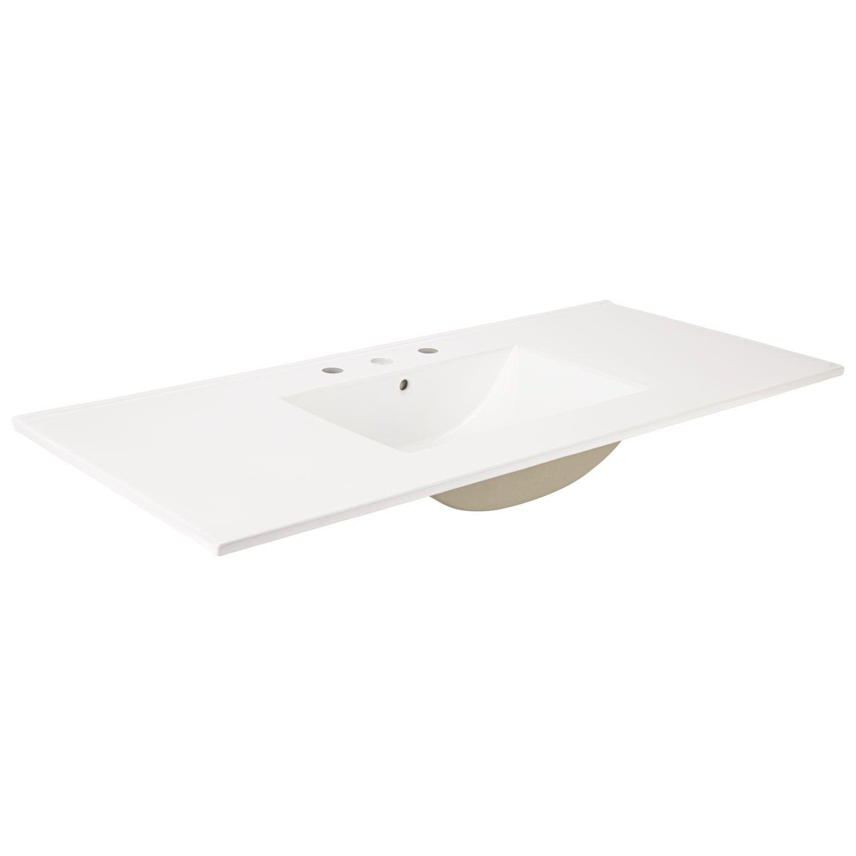 49 X 22 Ceramic Vanity Top With Rectangular Integral Sink 550