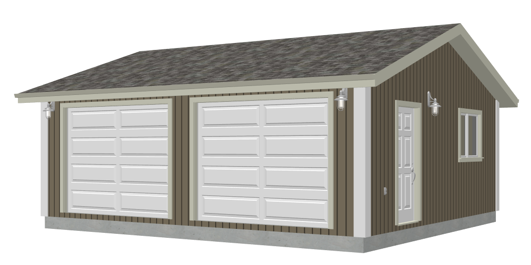 G528 24 x 22 x 8 garage plan pdf and dwg sdsplans for 28 x 24 garage plans