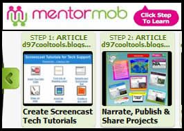 Mentor Mob is a cool tool to help users create digital playlists of related content. I like this curation tool because it's visual, user-friendly and can be embedded into a blog, wiki or website. All you need is a theme, some websites to highlight and the ability to write short andconcisetitles to guide users through each step of your playlist.    I understand the idea behind Menor Mob is to create mixes of web content, but I was in need of a new tool for organizing some of m