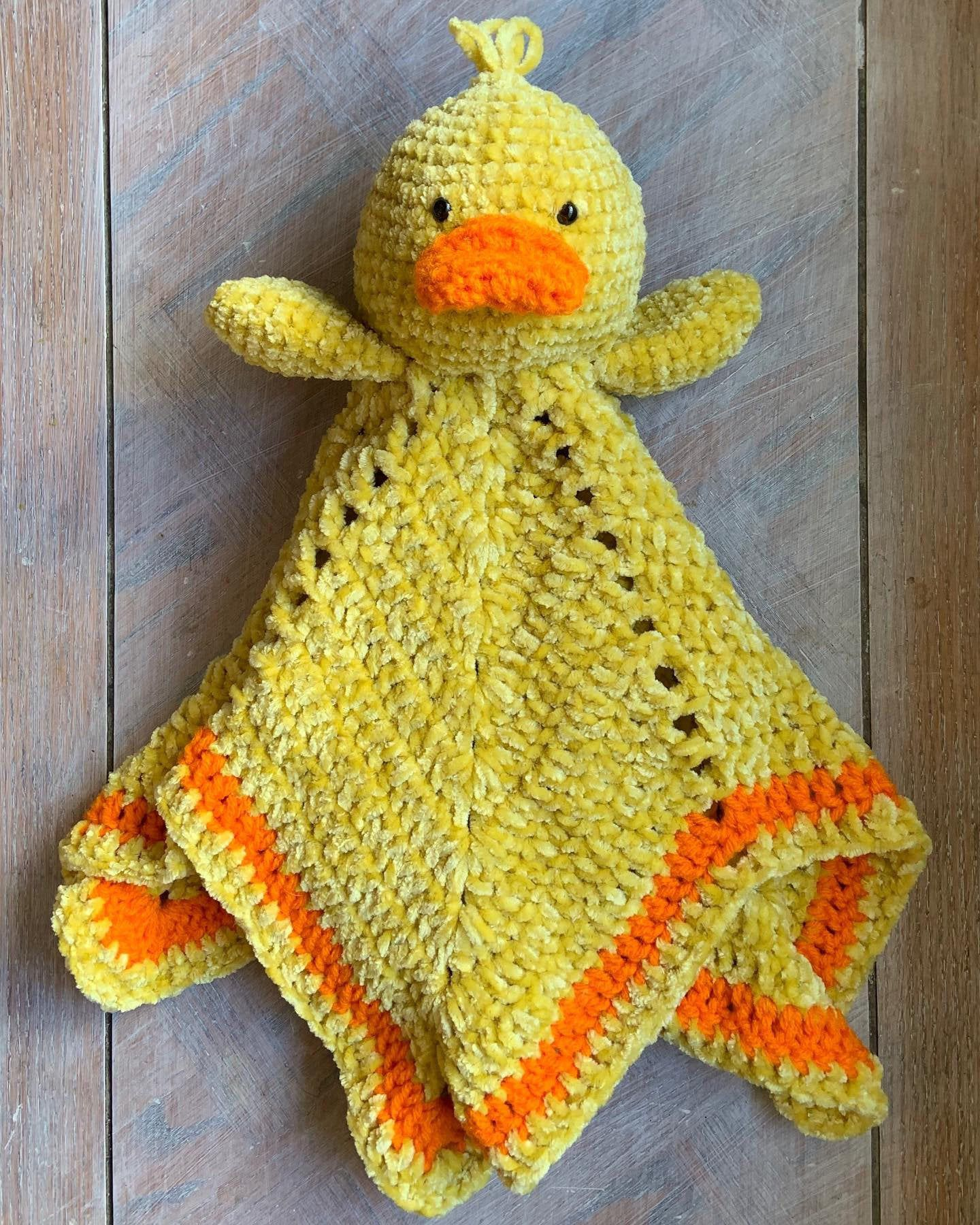 Duck Lovey- Security Blanket #securityblankets