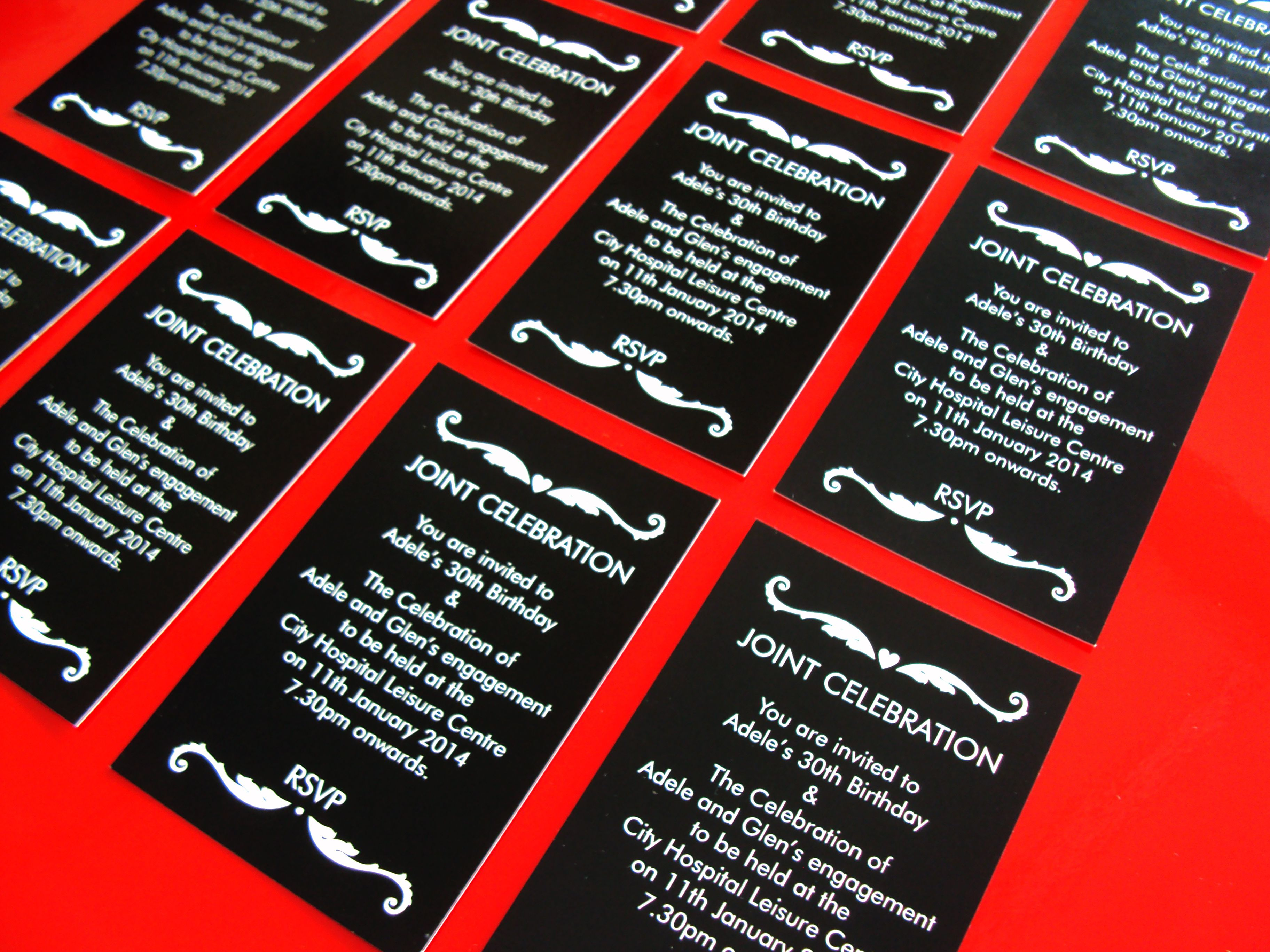 Invitations designed and printed by Minuteman Press Nottingham ...