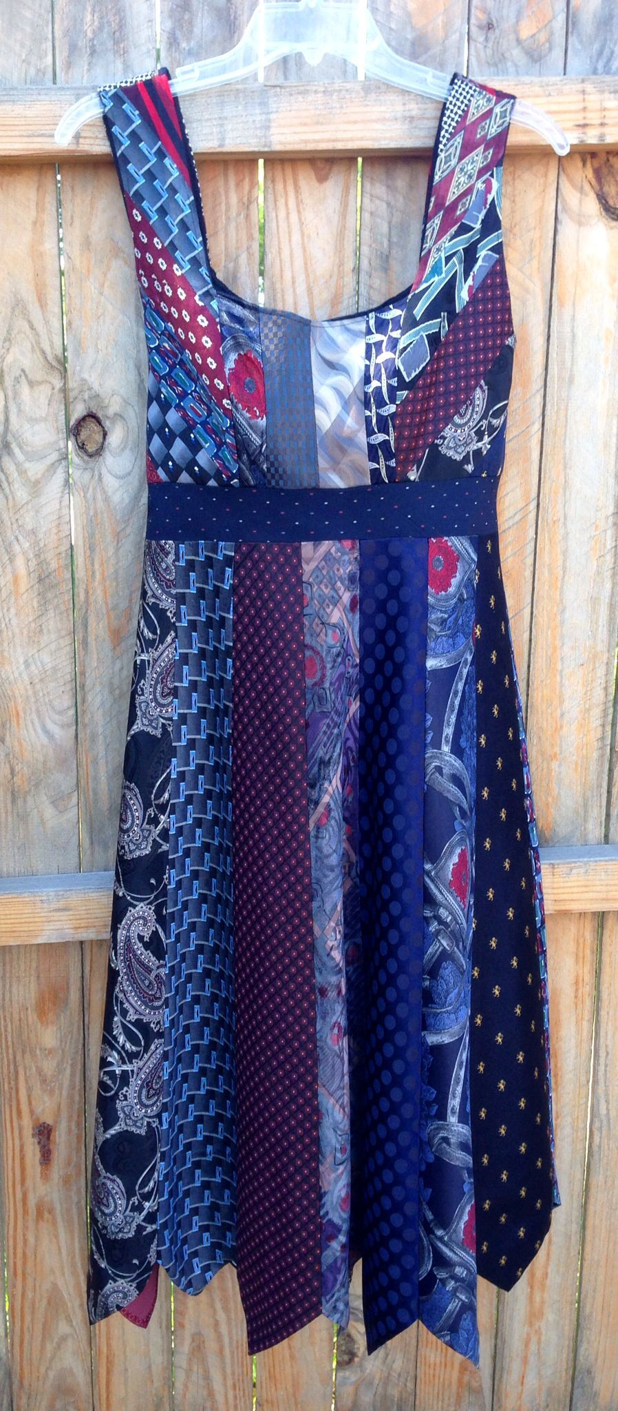 Krawattenrock Tie Dress Made With 21 Ties Photo Only You Could Sew Ties