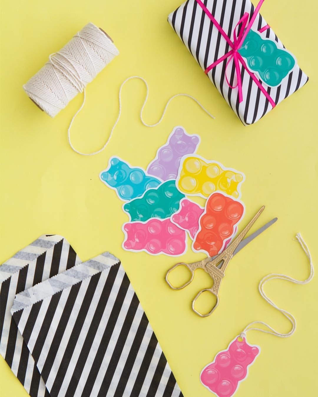 Printable Gummy Bear T Tags Get The Template On Our