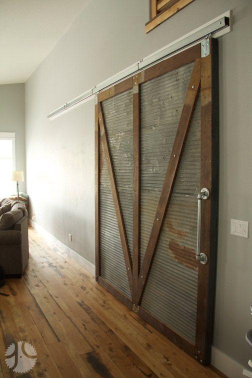 Barn door with corrugated sheet metal mount on reclaimed barn door with corrugated sheet metal mount on reclaimed corrugated metal from sciox Images