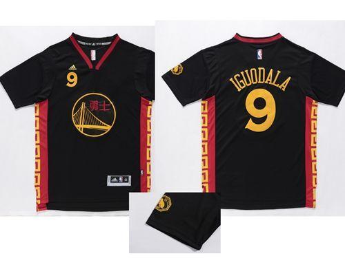Mens Golden State Warrlors  9 Andre Iguodala Black Slate Chinese New Year  Stitched Jersey f564e97e2