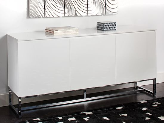 Dania Sleek and modern the Tate sideboard is crafted in a white