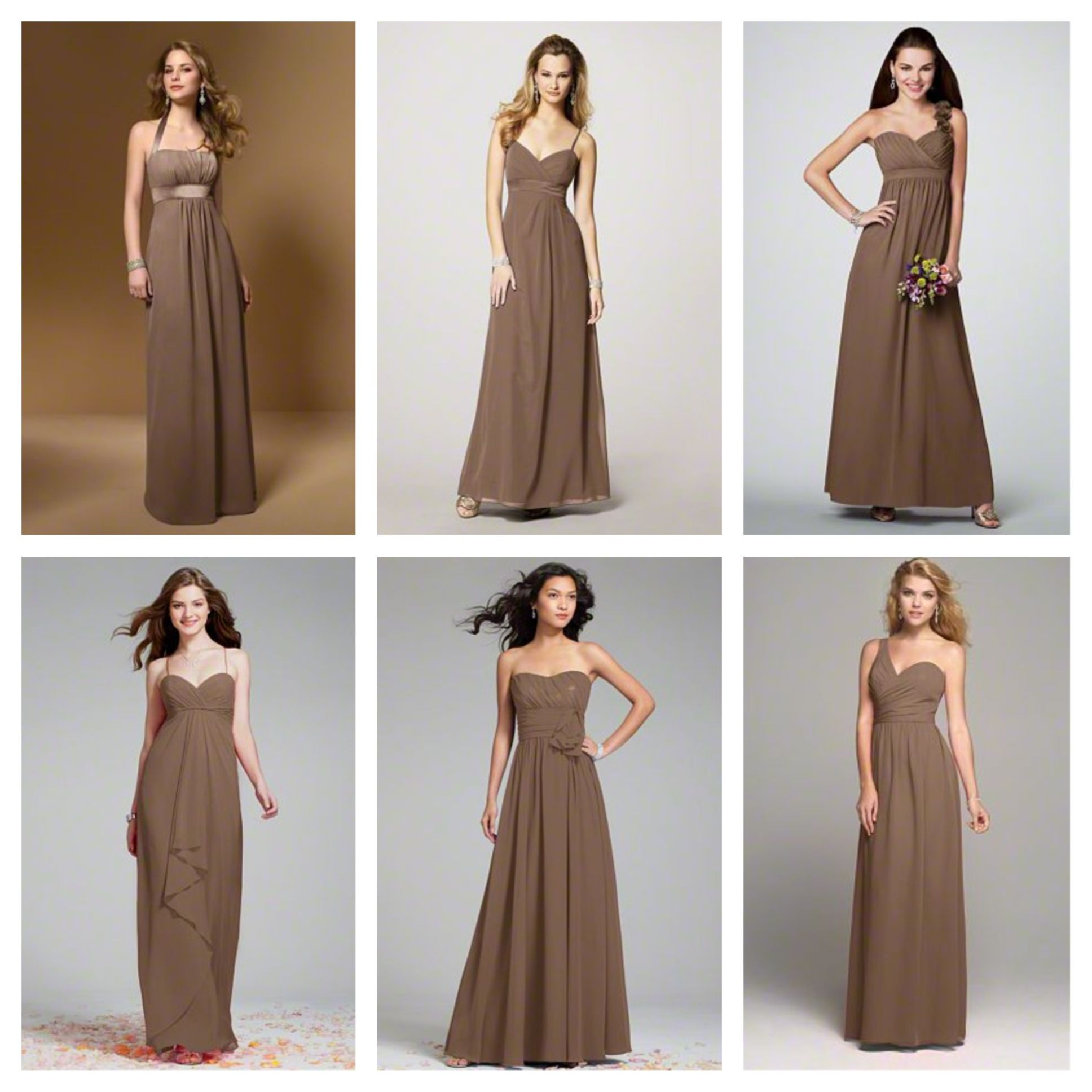 Mocha bridesmaids dresses wedding pinterest mocha bridesmaid mocha bridesmaids dresses ombrellifo Images
