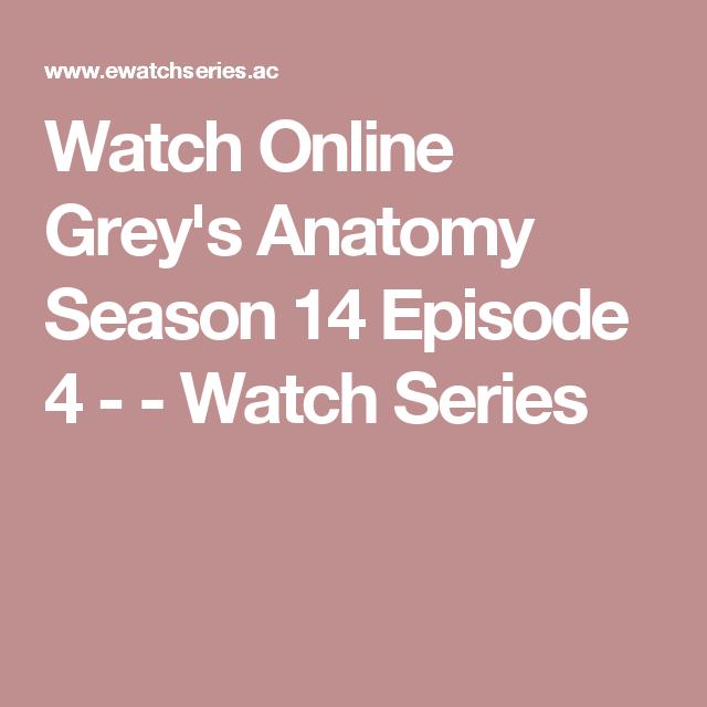 Watch Online Greys Anatomy Season 14 Episode 4 Watch Series