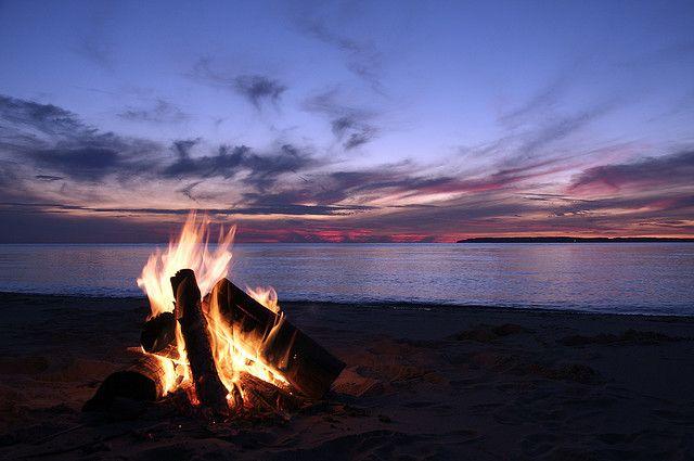 Campfire On The Beach With Friends Indigo Perfectsummer Beach