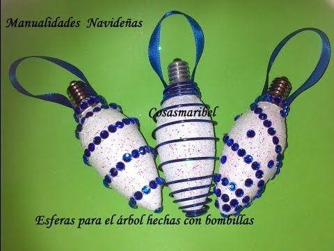 Adornos navideños hechos con bolas del desodorante - YouTube