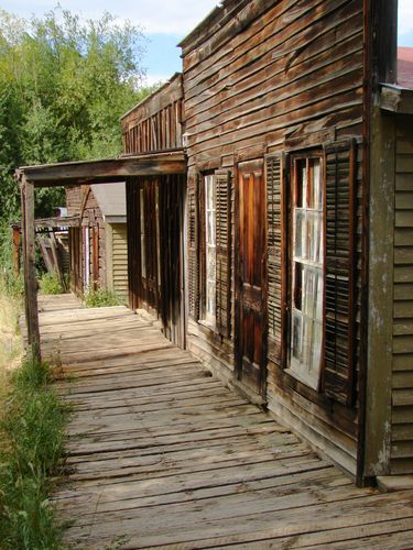 Weathered boardwalk in West Virginia ghost town....the subject of our next road trip...only thing missing is they won't be selling spoons