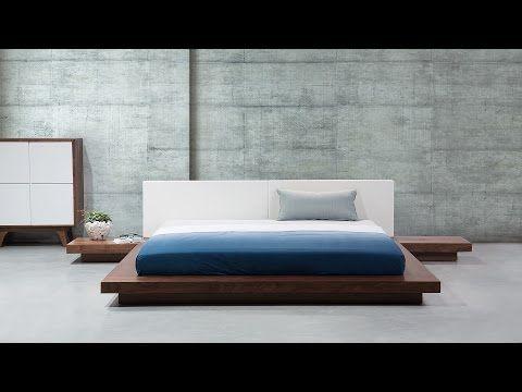 Wooden Super King Bed Brown Zen Beliani Co Uk Projetos De Cama Cama De Madeira Camas Modernas