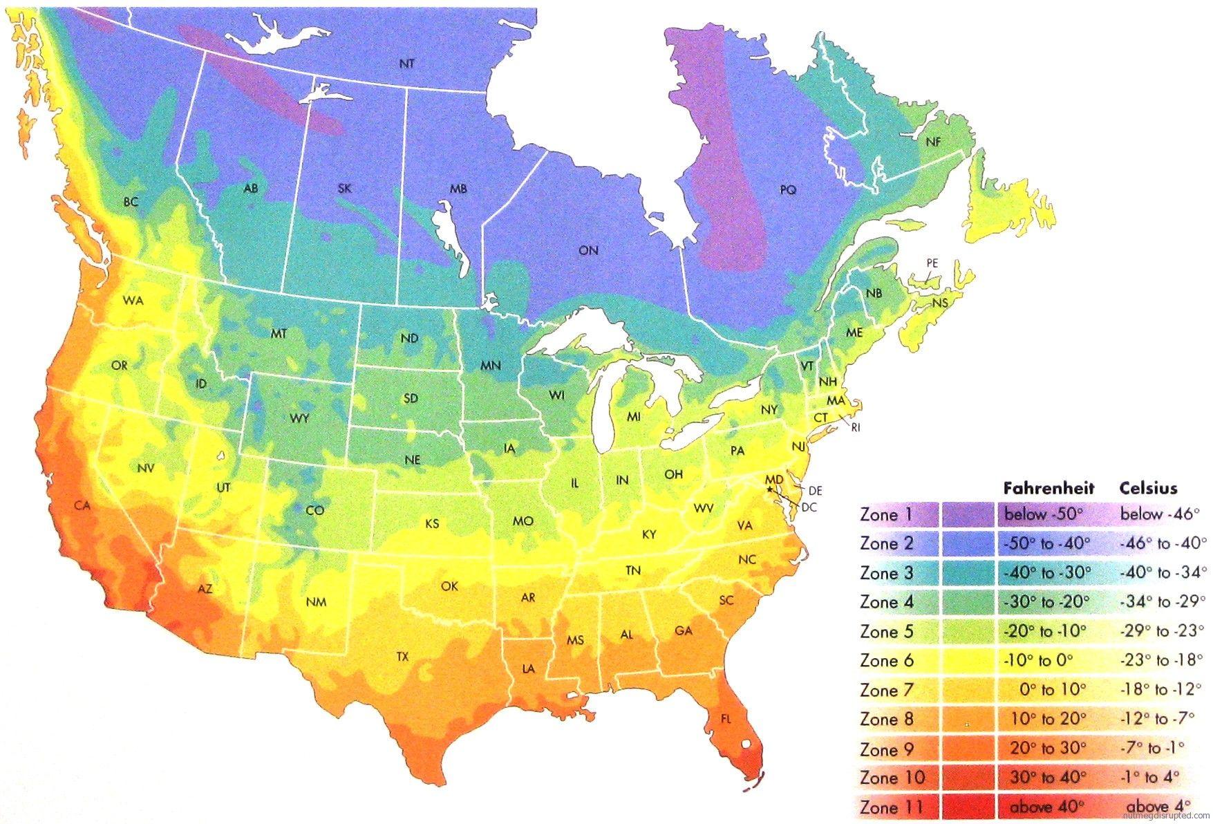 aa6a996edf943bf3780f6f59bffc2e33 - Map Of Gardening Zones North America