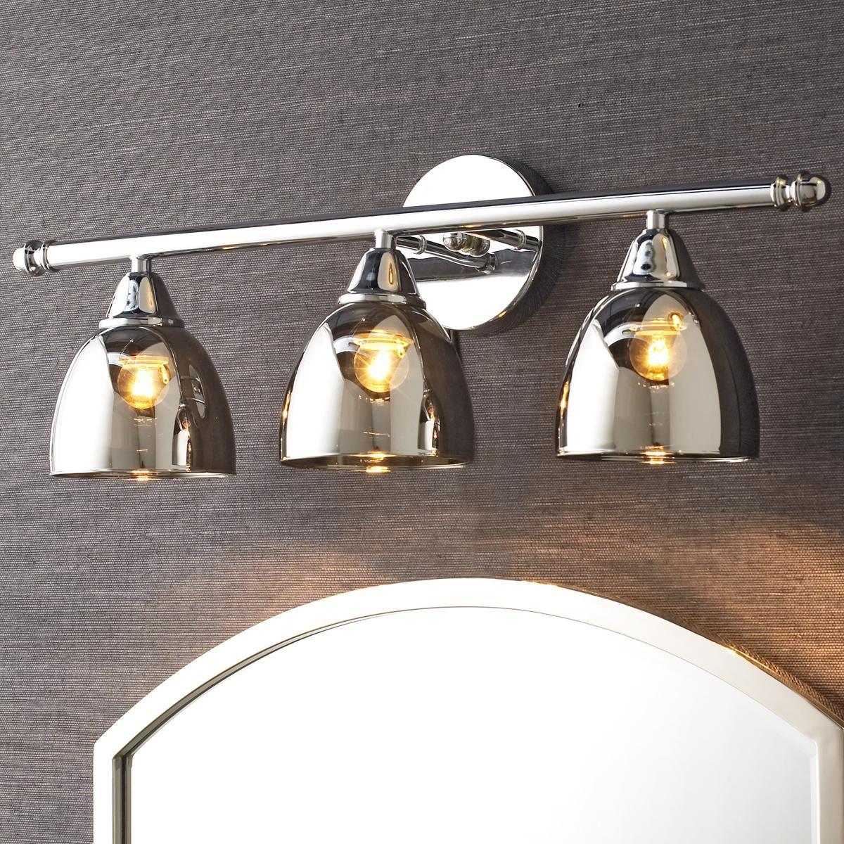unique vanity lighting. Chrome Translucent Glass Vanity Light - 3 . Unique Lighting