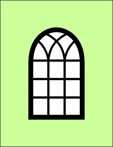 Arched Window Card And Window Frame Svg American Girl