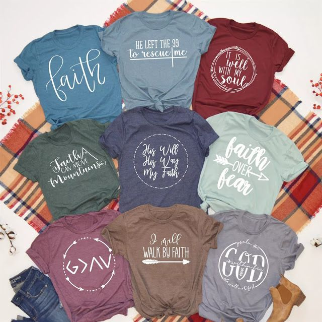 Faith Themed Tees in 9 Different Designs $13.99