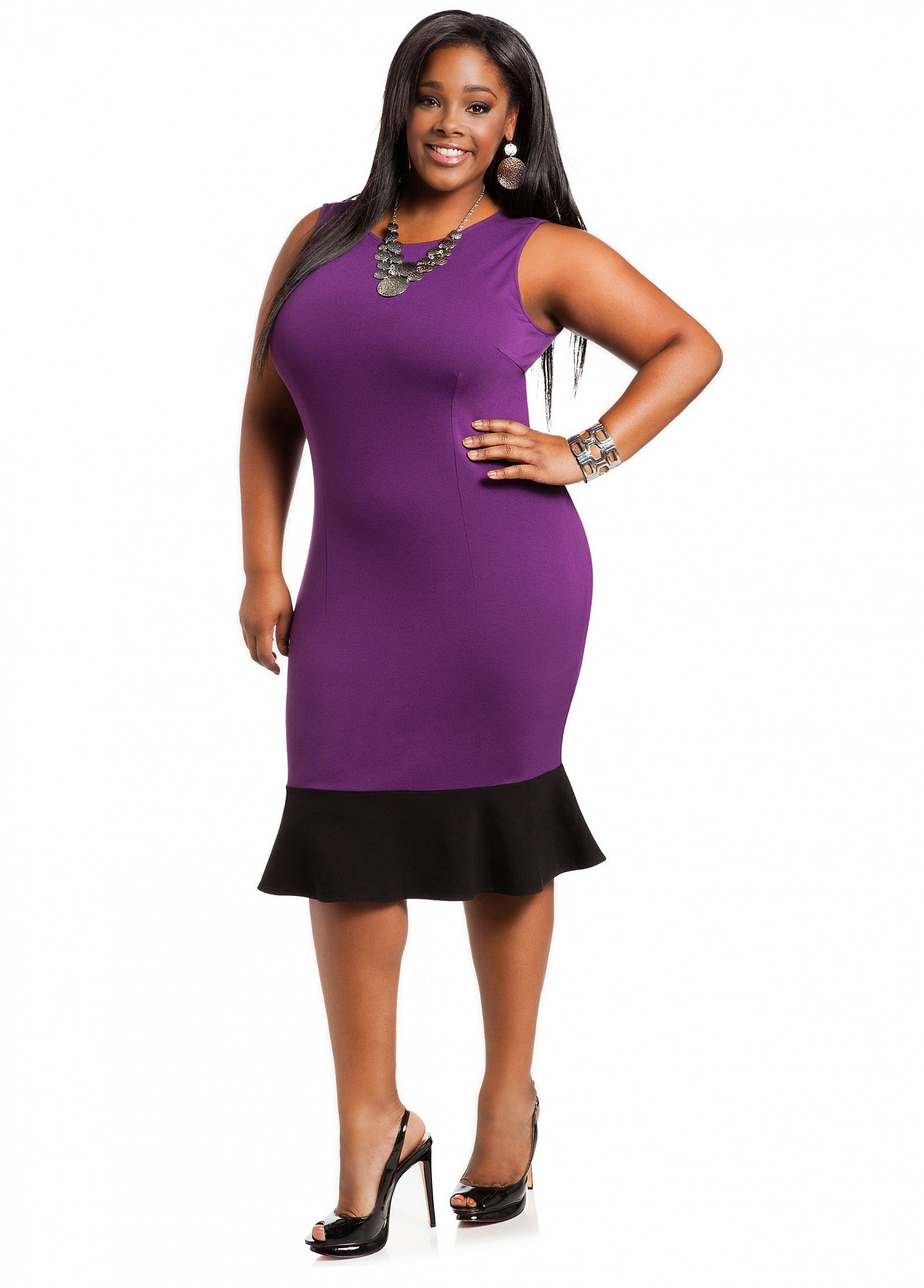 Ashley Stewart: Ruffle Hem Sheath Dress | Mis vestidos | Pinterest ...
