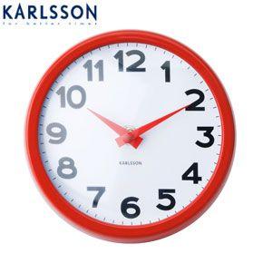 Karlsson Little Big Time Clock Mini Silver Clock Silver Wall Clock Wall Clock Design
