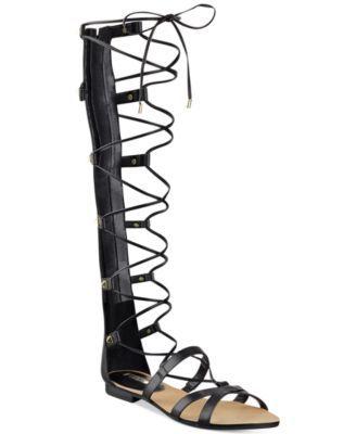 ba9b92d07f02 GUESS Women s Mylanie Tall Gladiator Sandals