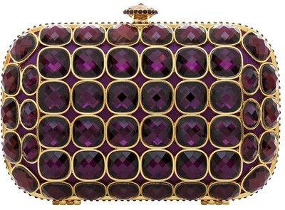 Talullah Tu Purple Jewel Crystal Clutch Bag
