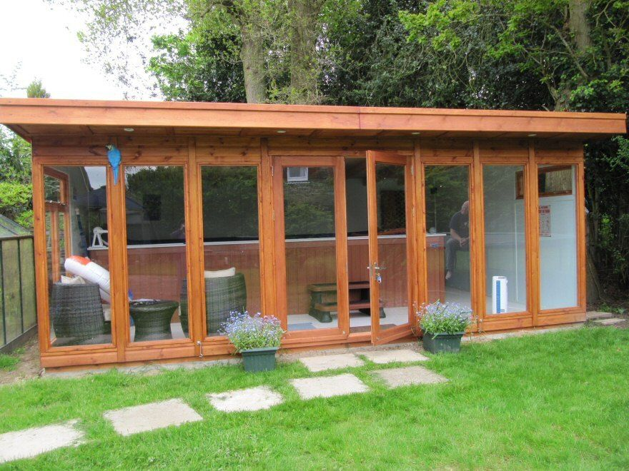 Bakers Timber Buildings Case Study 24 Endless Pool Garden Room In Surrey Endless Pool Endless Pool Backyard Building A Pool