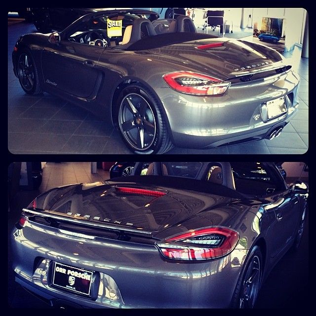 2014 Porsche Boxster At Porsche Of Destin Painted In The Gorgeous Agate Grey Metallic With Color Matched 19 Cayman S Wheels Porsche Boxster Cayman S Porsche