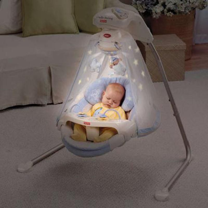 Newborn Infant Baby Cradle And Swing With Night Light Projection Show Baby Cradle Swing Baby Cradle Cradle Swing