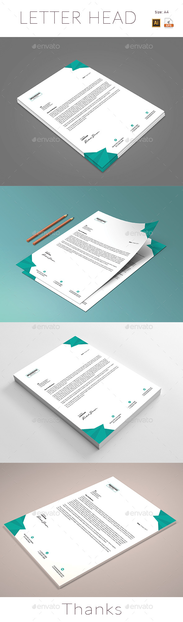 business letter format microsoft word%0A Letterhead Template Vector EPS  AI Illustrator  MS Word