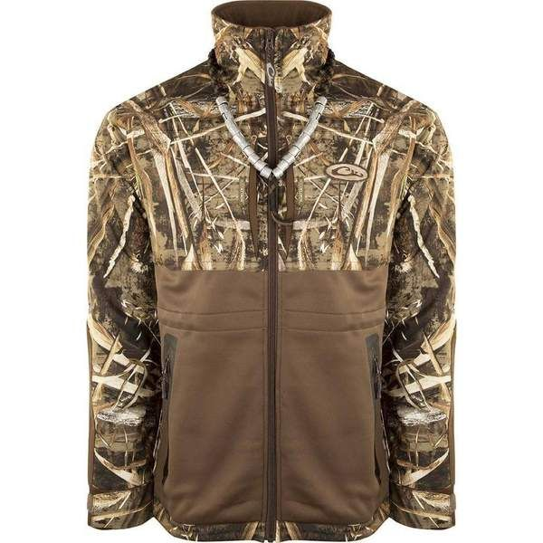 0b17f58798005 Drake Realtree Max5 Guardian Flex Full Zip Fleece Lined Eqwader Jacket