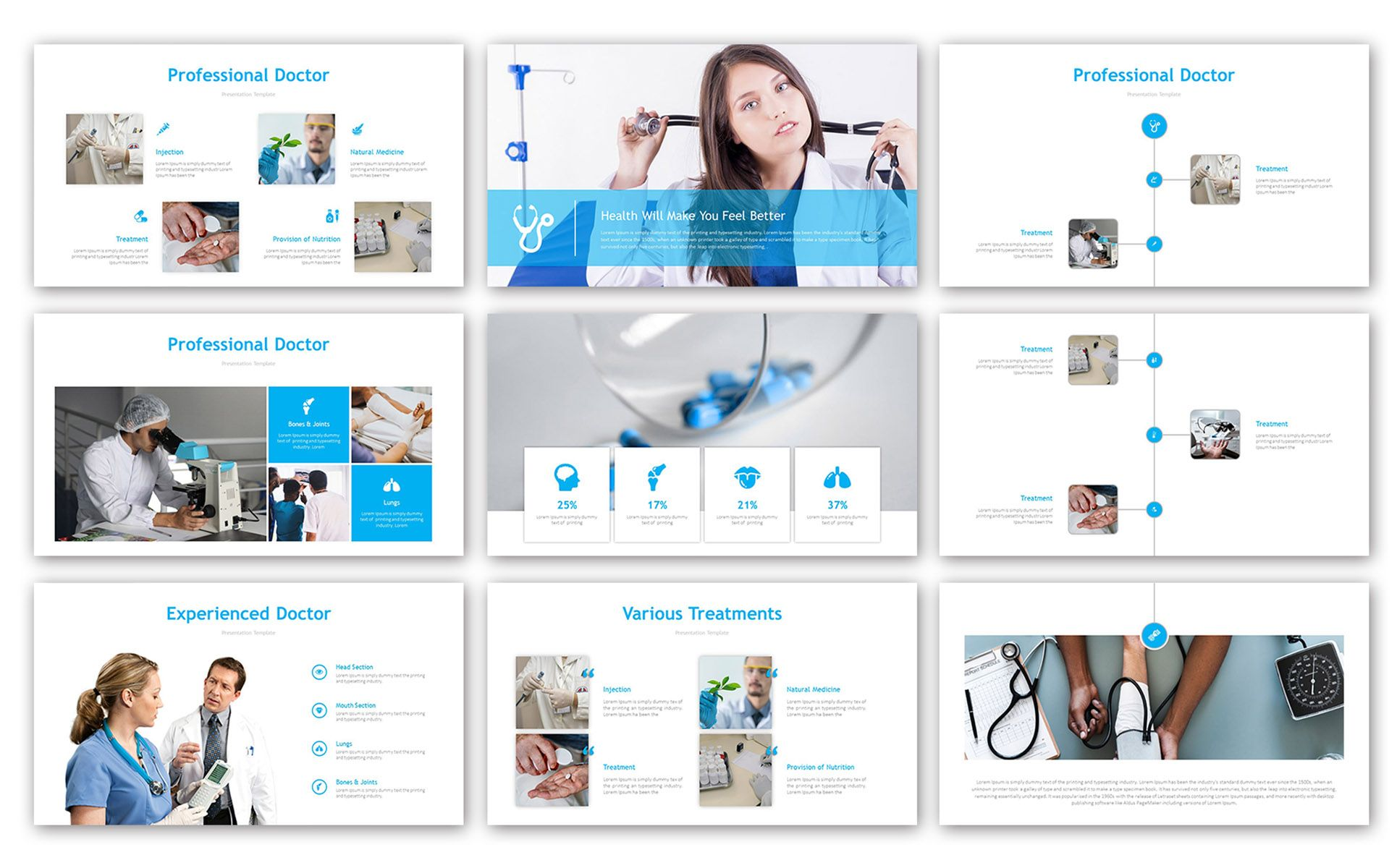 Medical Professional PowerPoint Template 83039