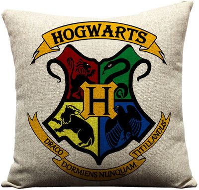 Hogwarts Harry Potter Movie Designs Sofa Cushion Cover Shopping Tote Bag Gift