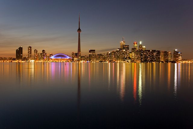 Downtown Toronto, Ontario Skyline by InterContinental Toronto Yorkville, via Flickr