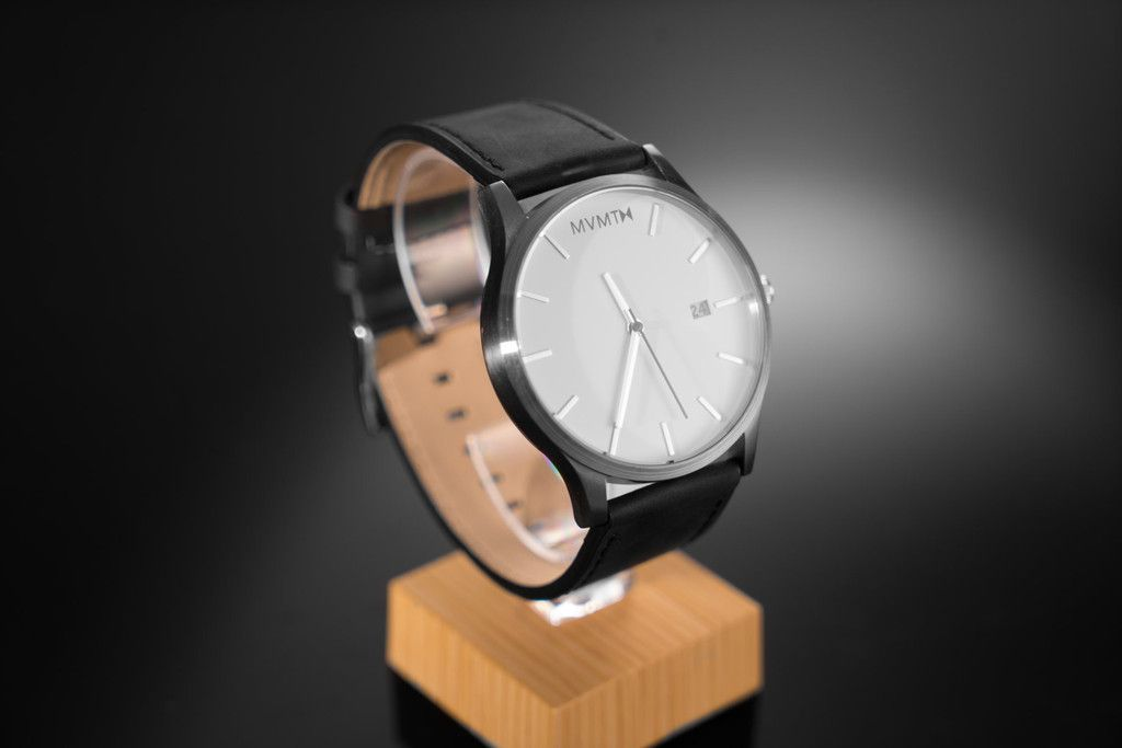 White / Black Leather   MVMT Watches - WANT!!!!