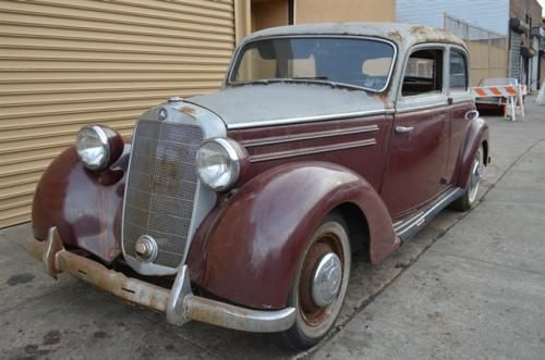# 18292 This 1953 Mercedes-Benz 170S Sedan . It is equipped with a 4 Speed Manual transmission. The vehicle is Gold over Burgundy with a Not Specified interior. It is offered As-Is, not covered by a warranty. - 1953 Mercedes 170S Silver over Burgundy. Excellent original car waiting to be restored. For only $10,750 - AM-FM - Contact Internet Sales at 718-545-0500 or gullwingny@aol.com for more information. - -