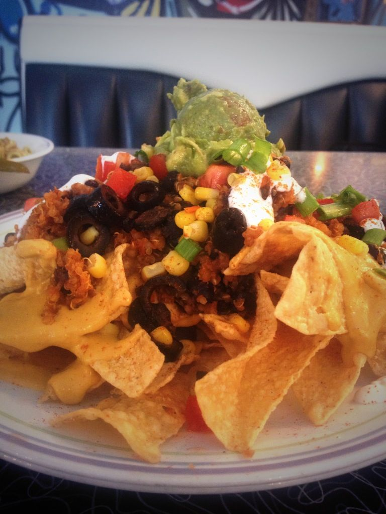 Spiral Diner Nachos Vegan The Queso Is Amazing Fort Worth Magnolia Ave Fwemedia